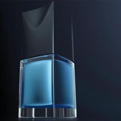 PackShot produit vernis 3D verre