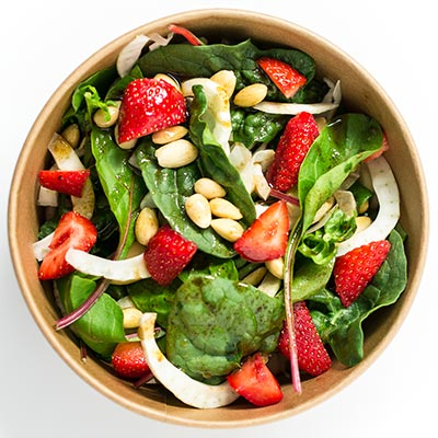 packshot studio photo salade culinaire
